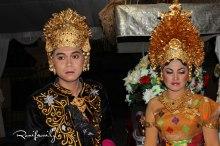 Balinese Wedding Couple at Night